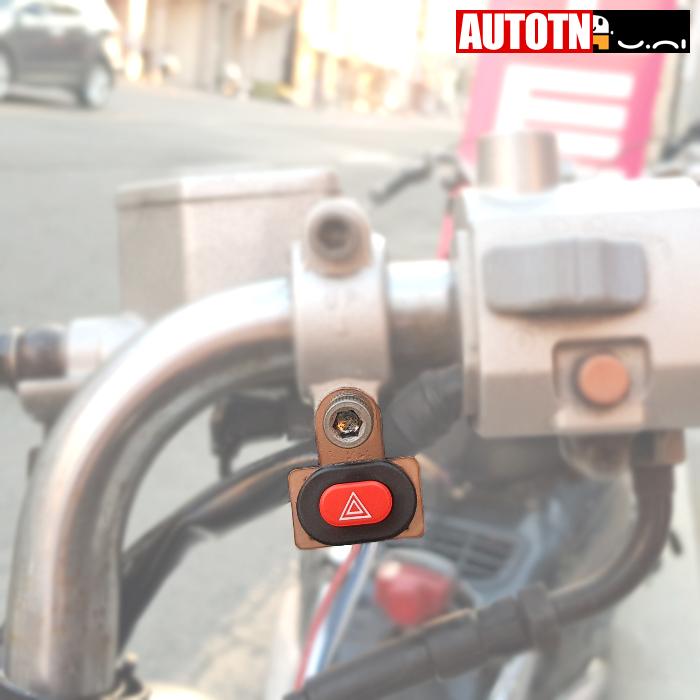 수항 방수 오토바이 3핀 비상등스위치 6mm 레버다이 타입 비상깜박이